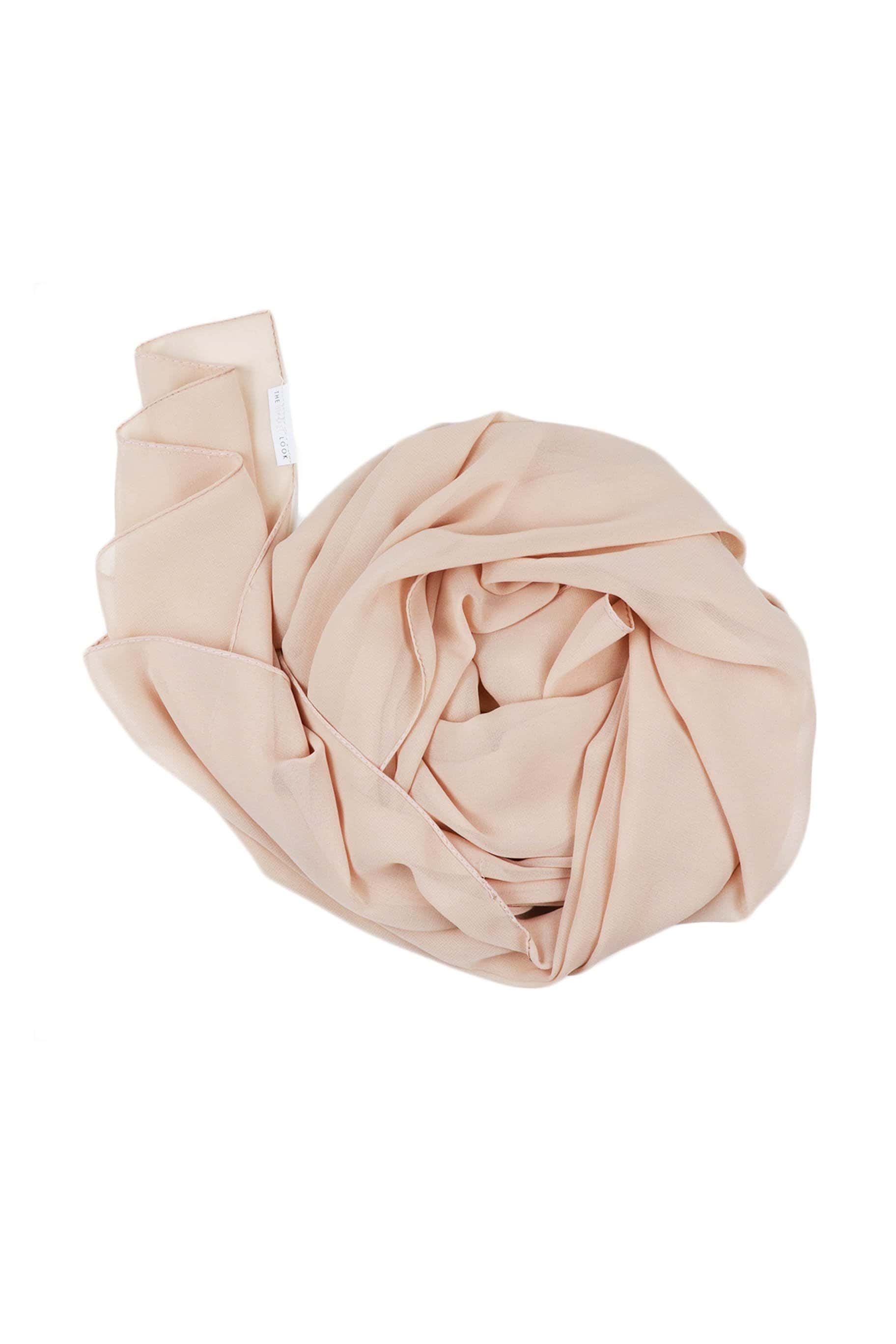 Buttercream Nude Chiffon Hijab - Chiffon Hijab - The Modest Look