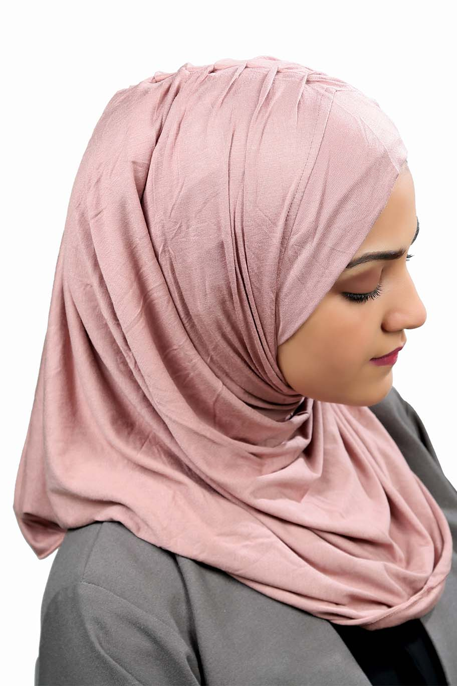 Dusty Rose Ready To Wear Hijab - Jersey Hijab - The Modest Look