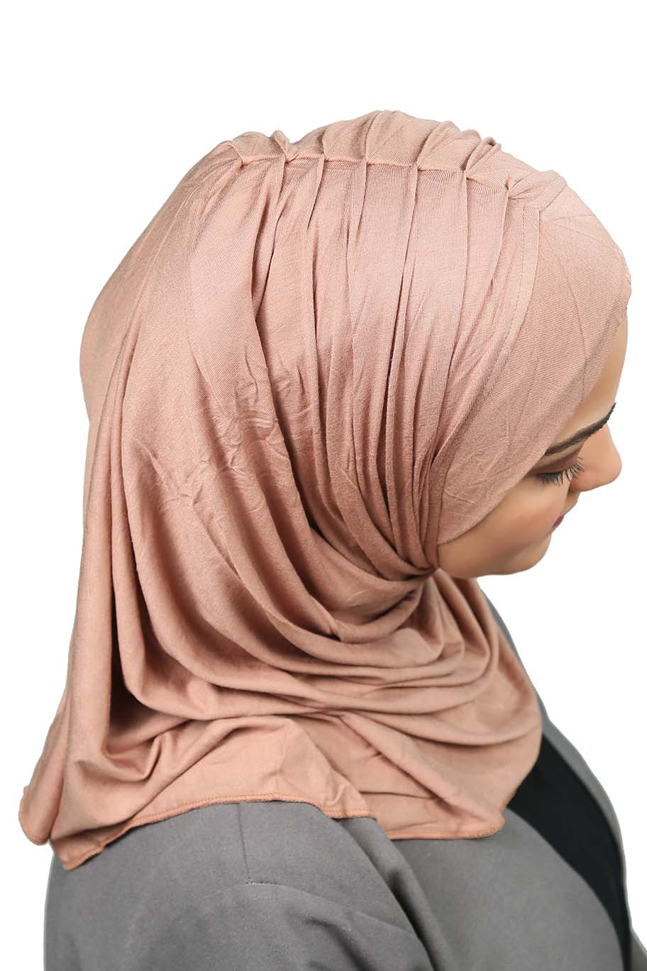 Light Brown Ready To Wear Hijab - Jersey Hijab - The Modest Look