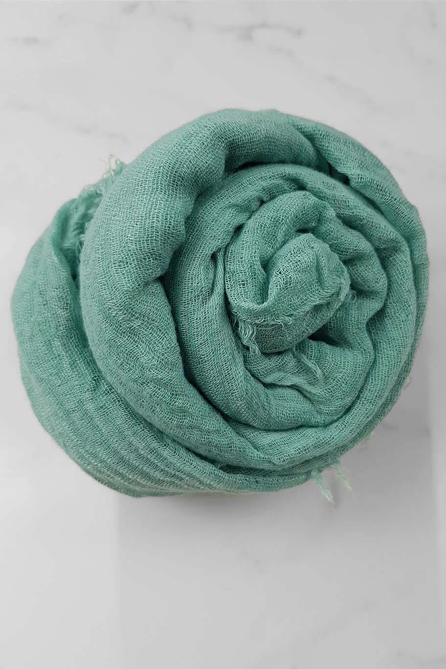 Pastel Mint Green Crinkle Cotton - Crinkle Cotton Hijabs - The Modest Look