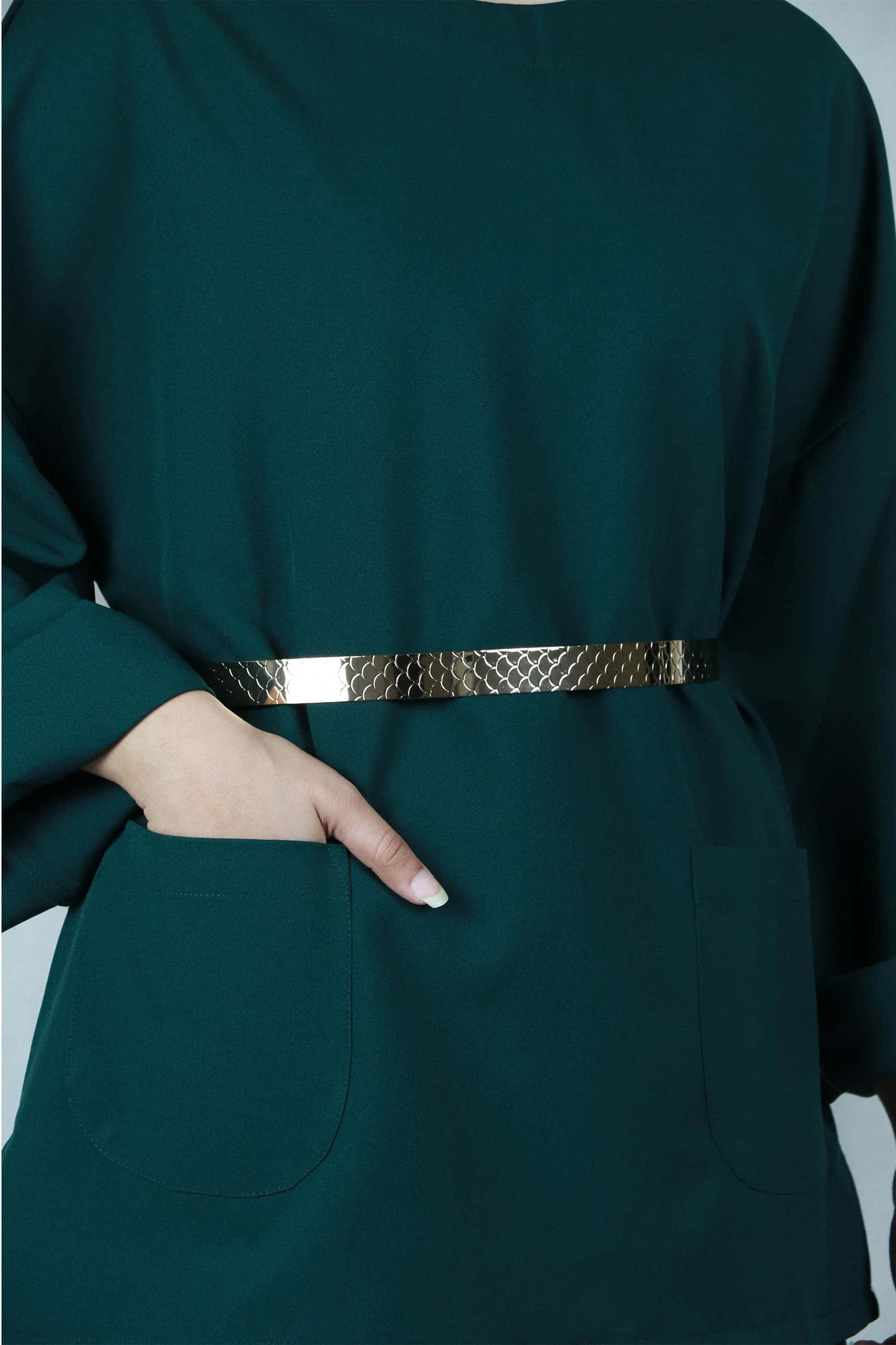 Gold Metal Belt (Adjustable) - Belts - The Modest Look