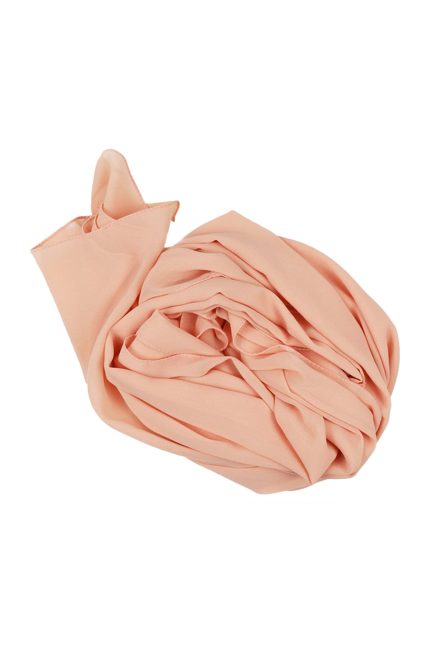 Peachy Nude Chiffon Hijab - Chiffon Hijab - The Modest Look