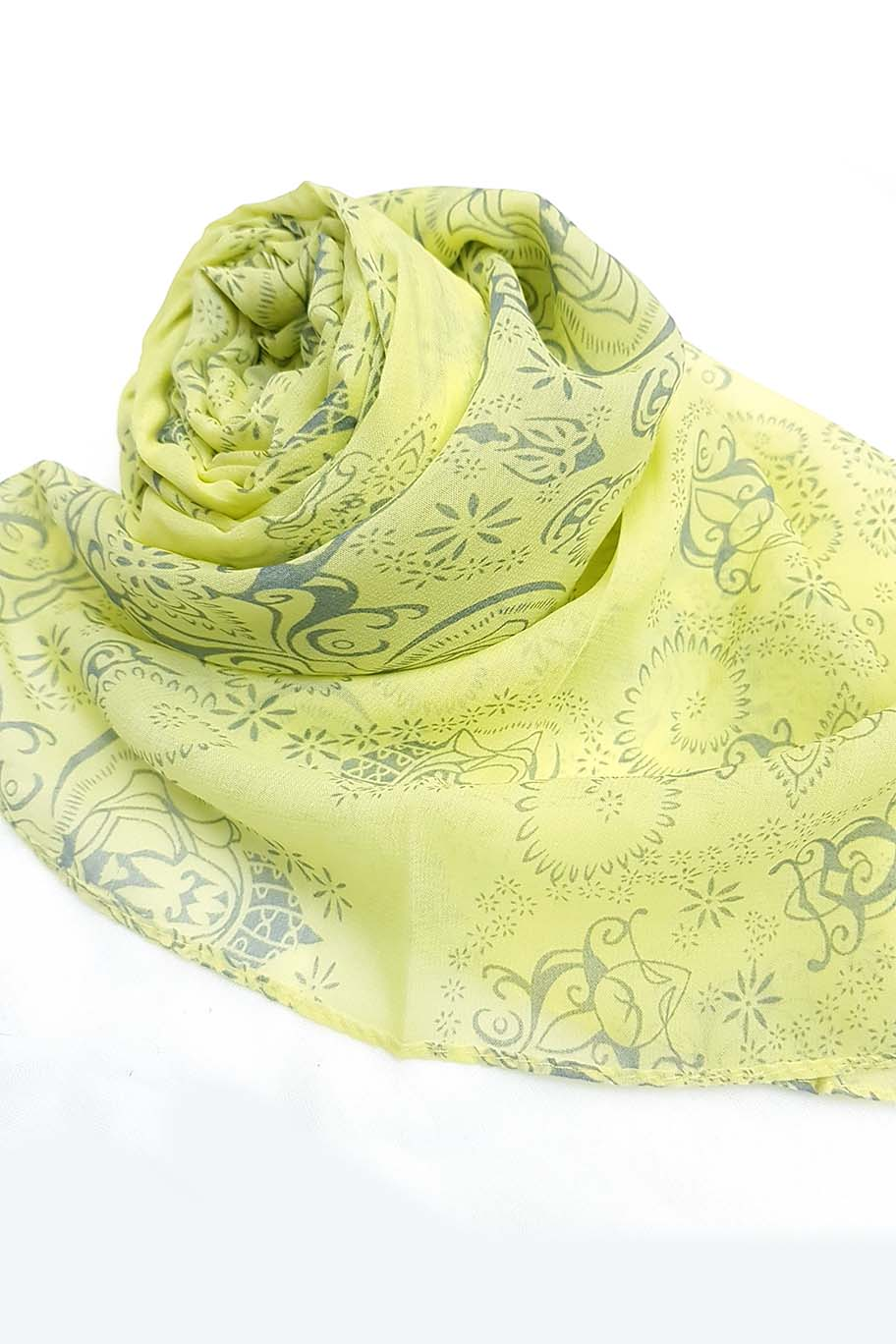 Light Yellow Chiffon Hijab -  - The Modest Look