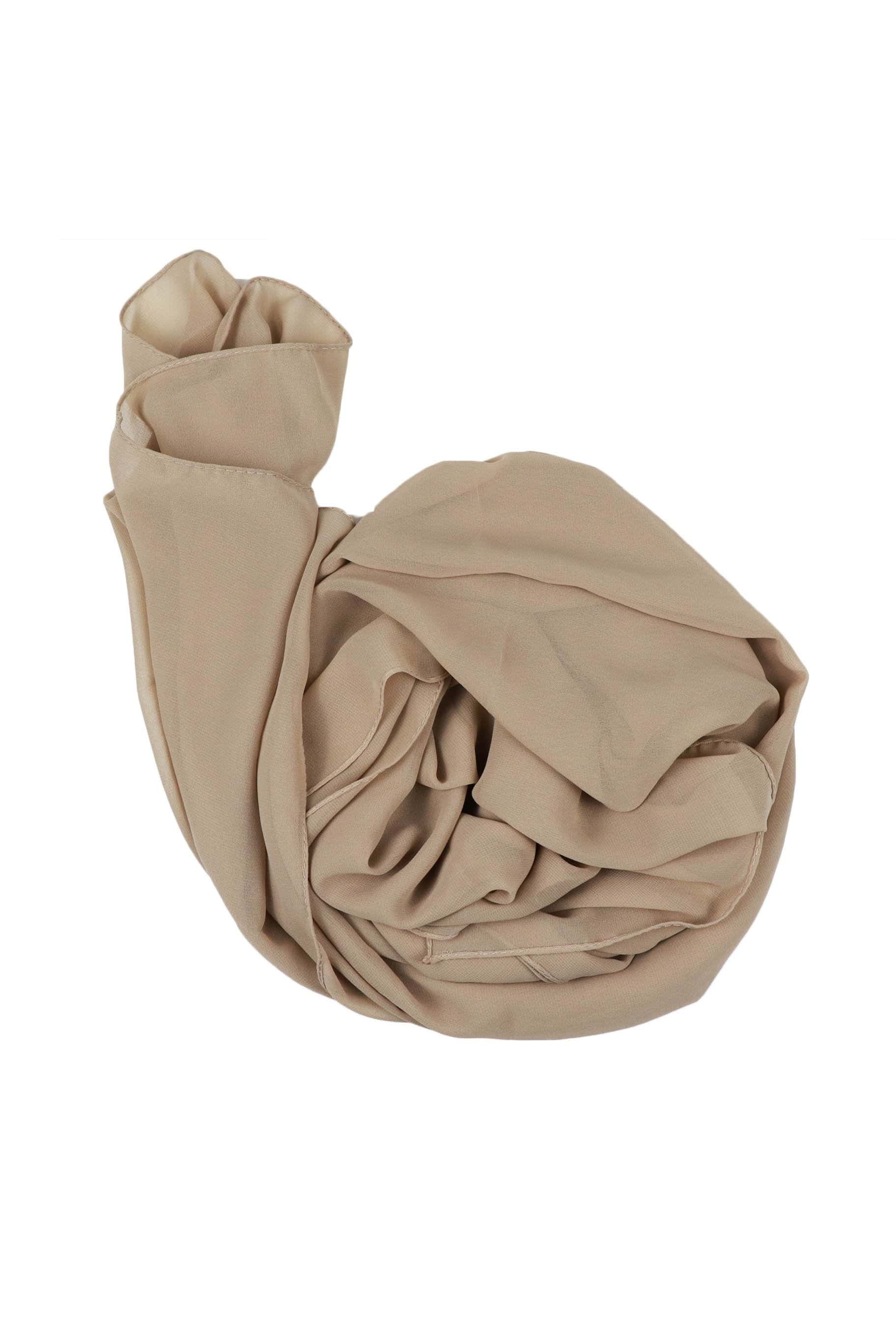 Camel Brown Chiffon Hijab - The Modest Look