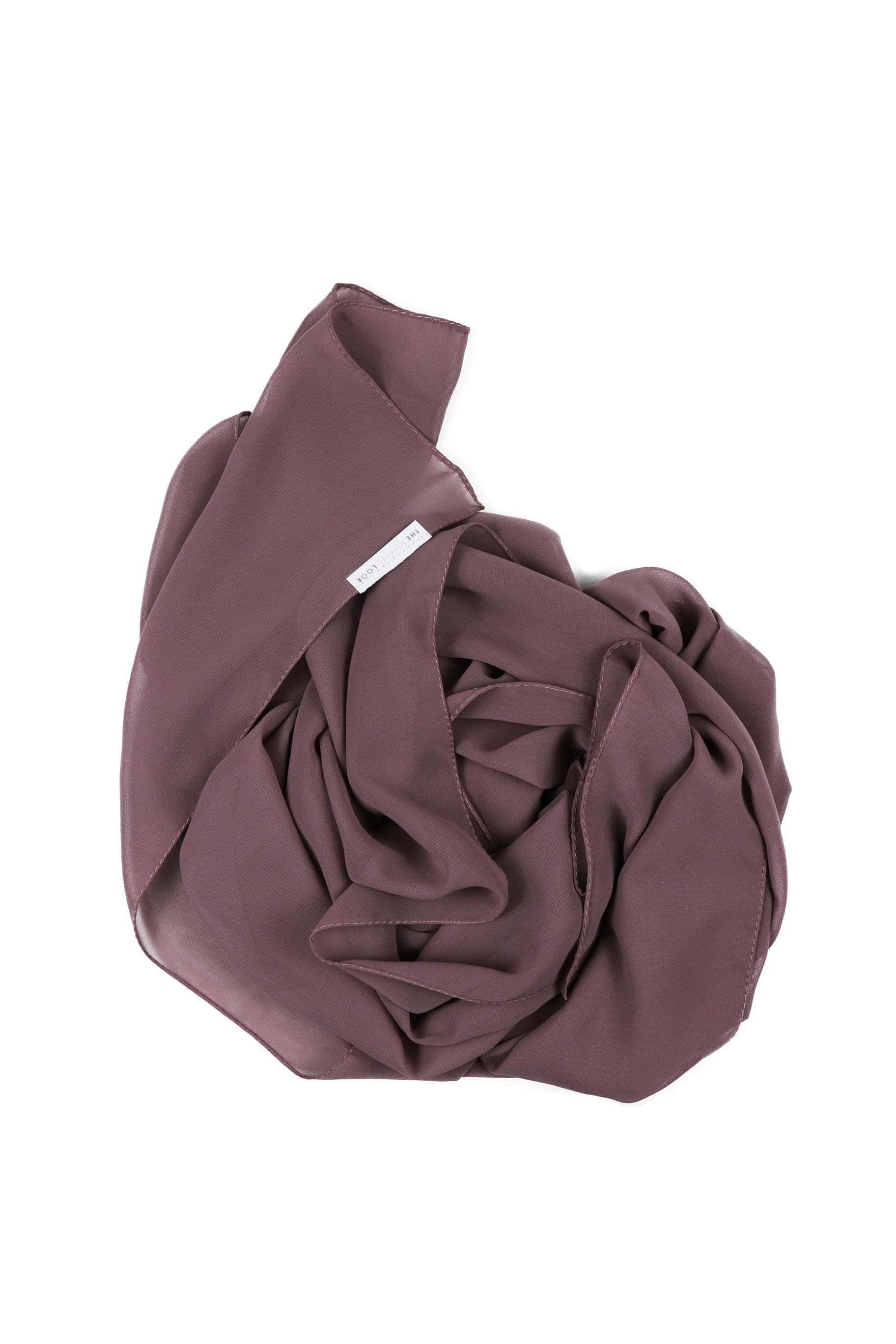 Mauve Purple Chiffon Hijab - Chiffon Hijab - The Modest Look