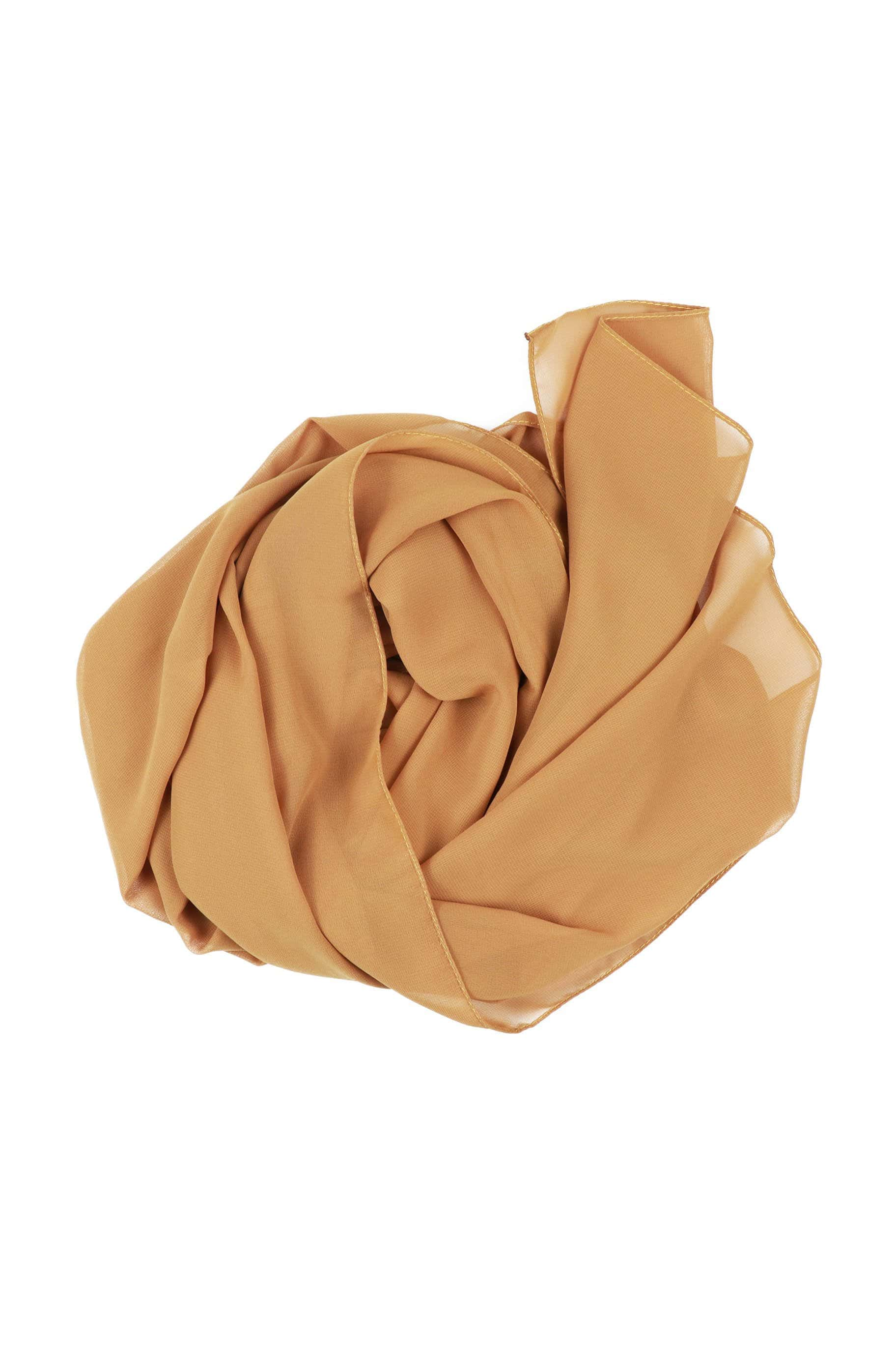 Chestnut Brown Chiffon Hijab - The Modest Look