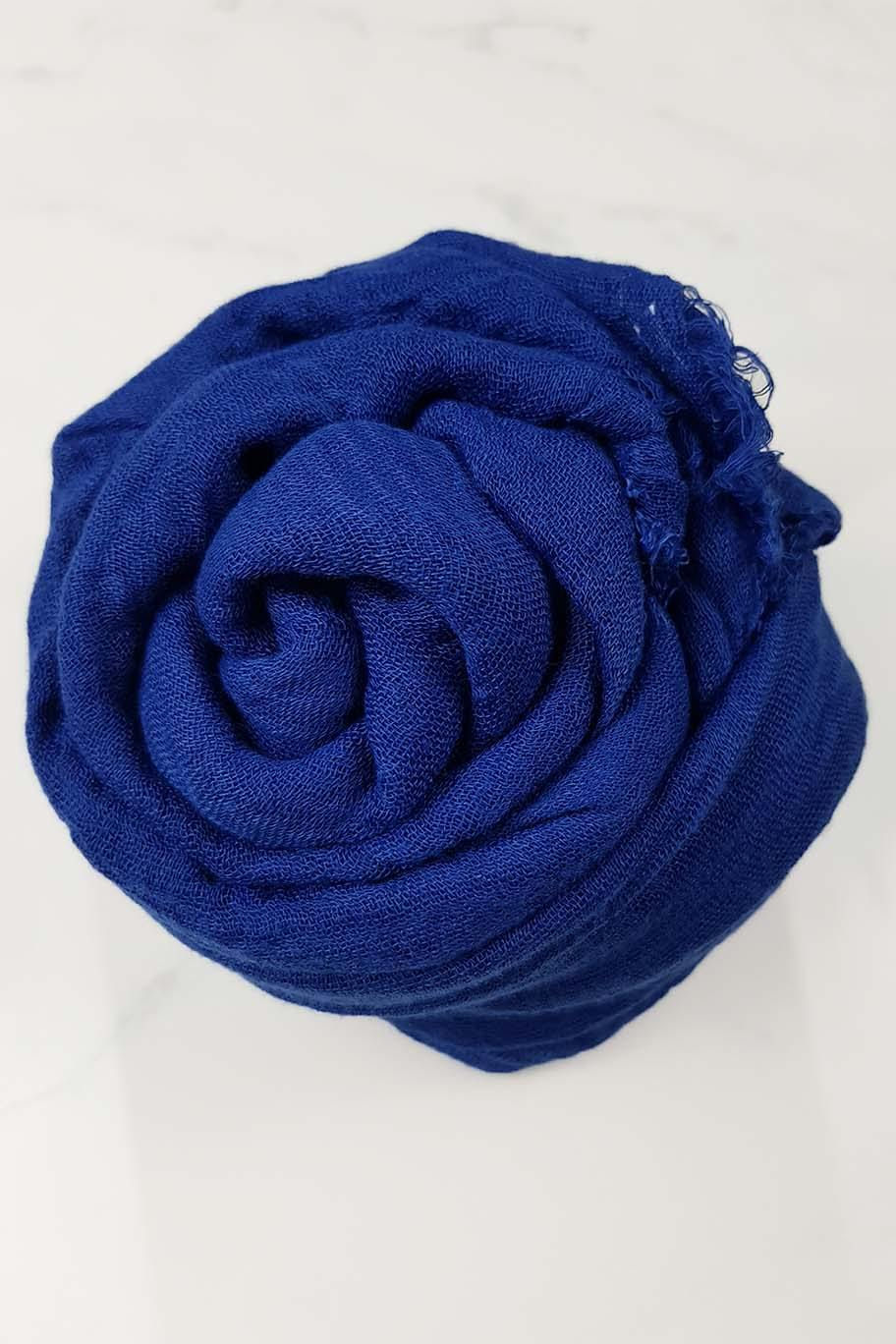 Sapphire Blue Crinkle Cotton - Crinkle Cotton Hijabs - The Modest Look