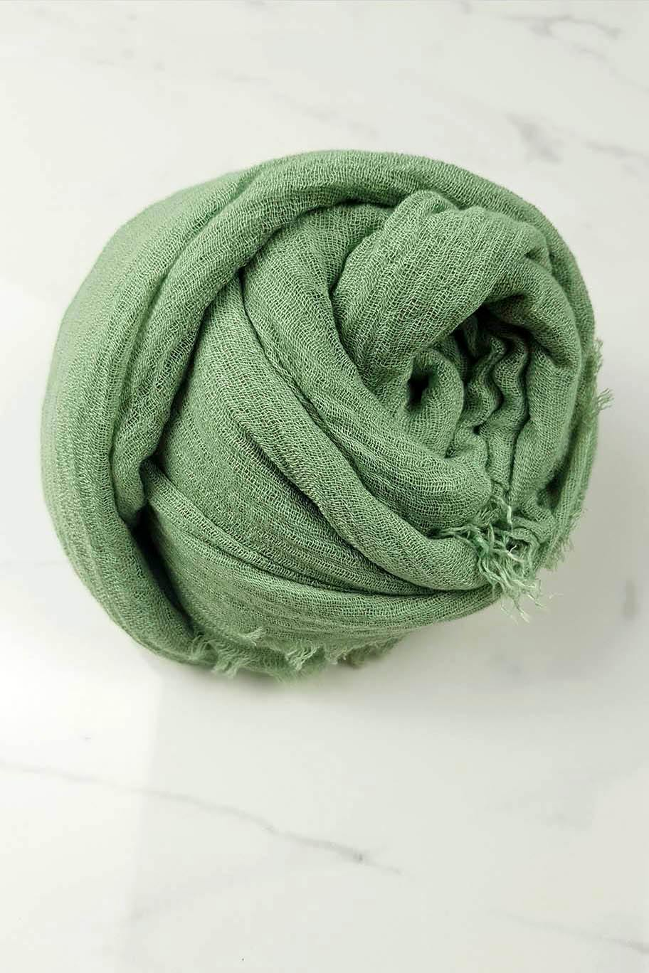 Pistachio Green Crinkle Cotton - Crinkle Cotton Hijabs - The Modest Look