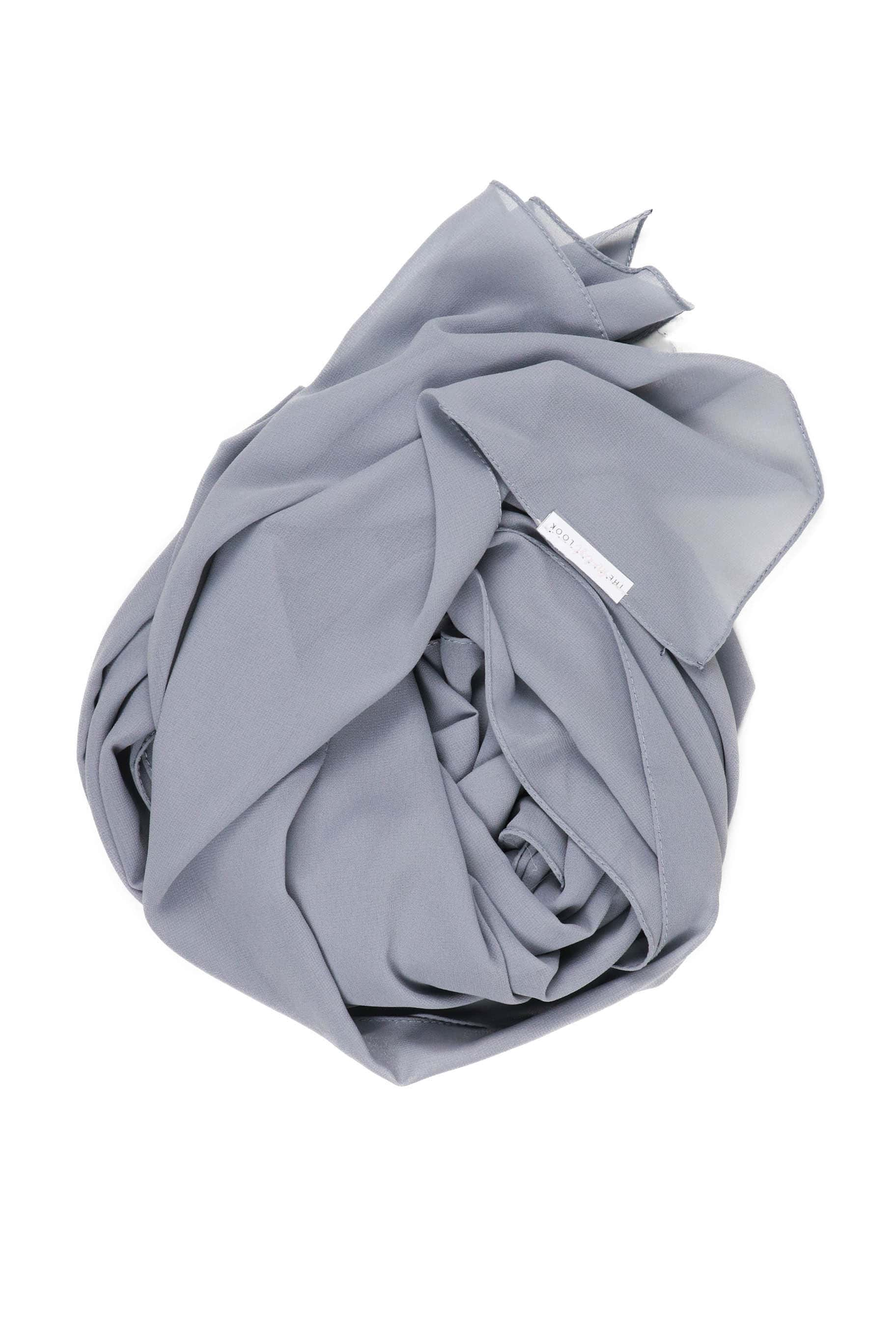 Cloudy Grey Chiffon Hijab - Chiffon Hijab - The Modest Look