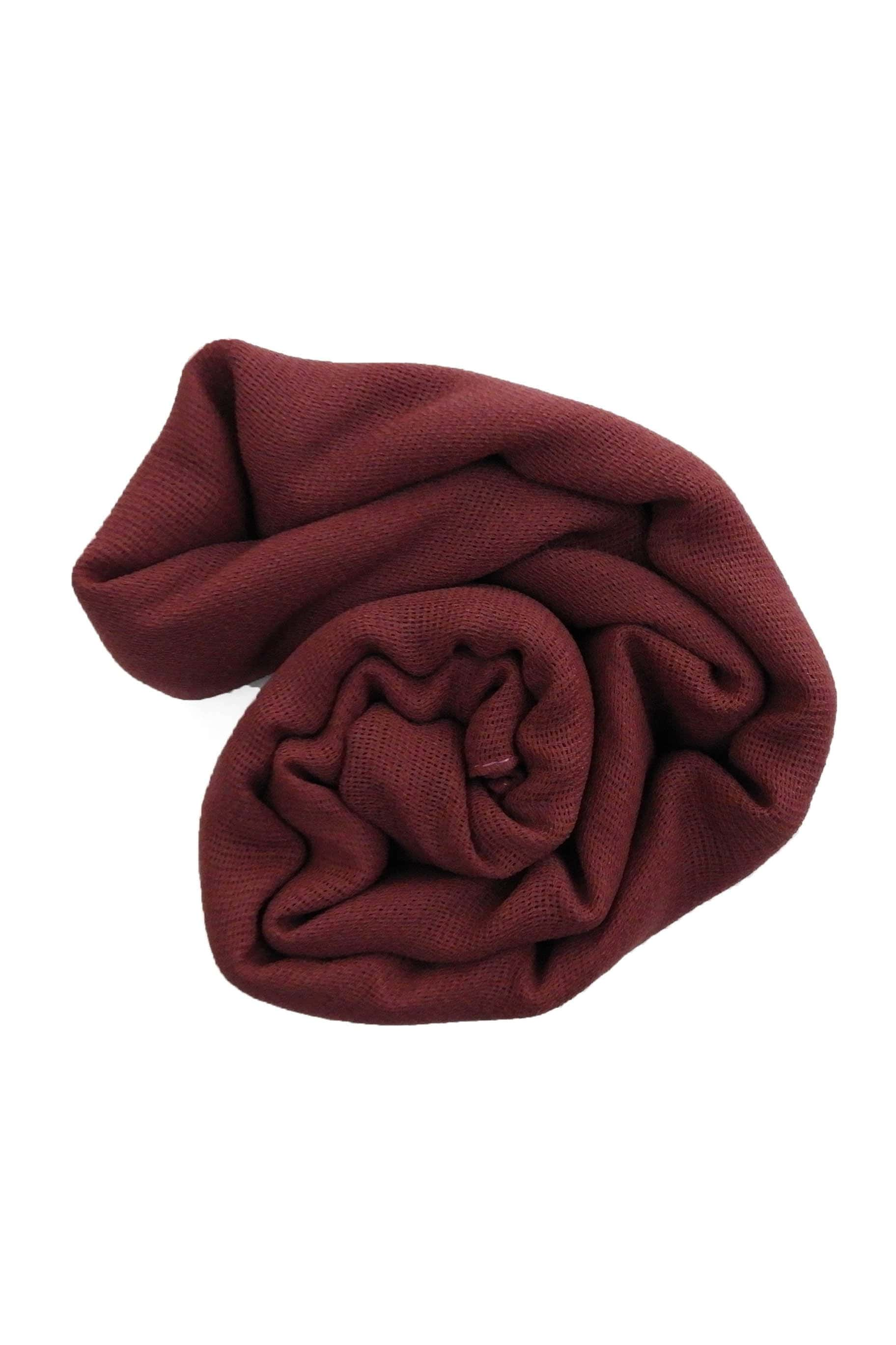 Autumn Red-Brown Jute Cotton - Jute-Cotton Hijab - The Modest Look