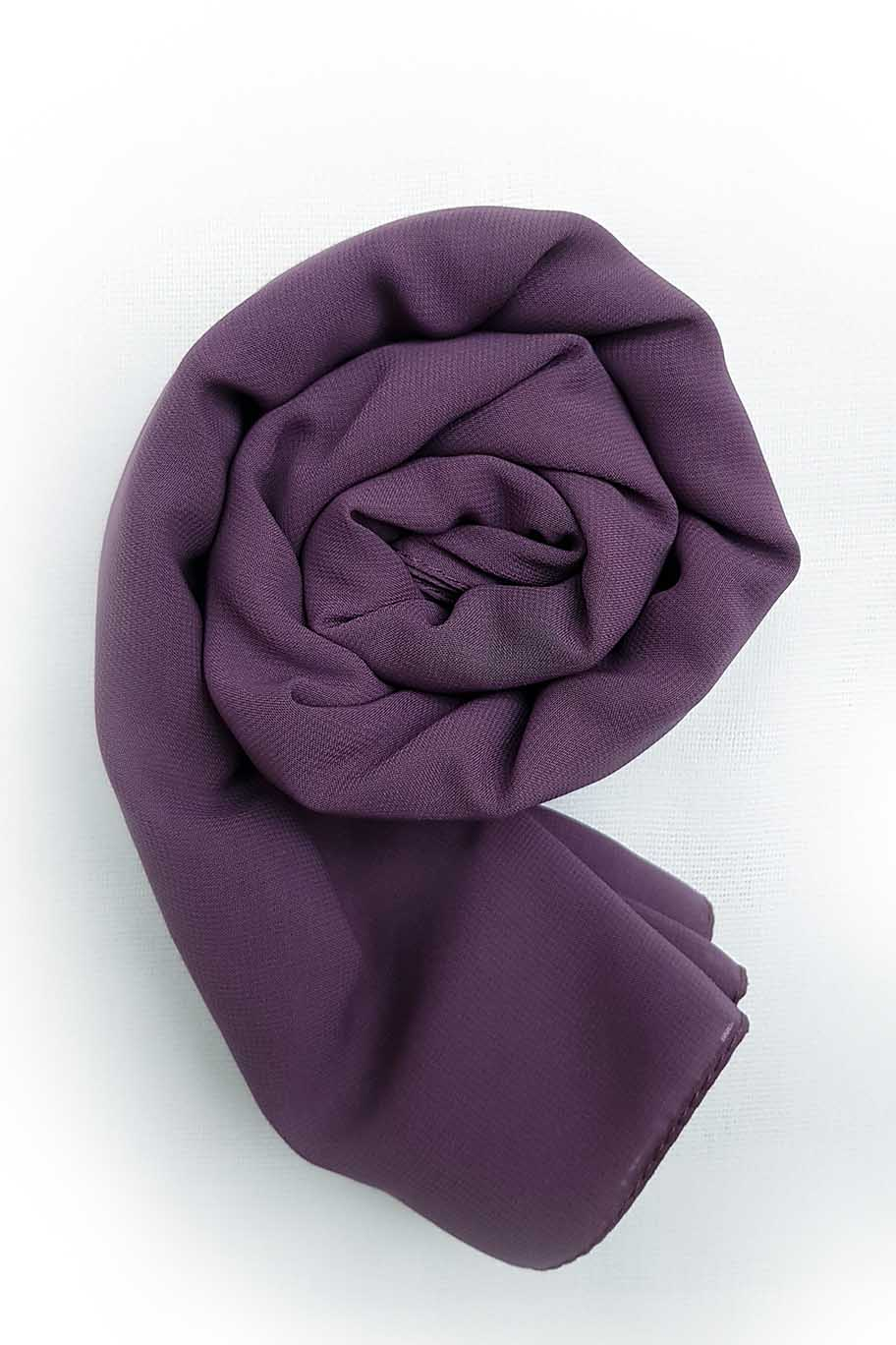Grapes Mauve Chiffon Hijab - Chiffon Hijab - The Modest Look