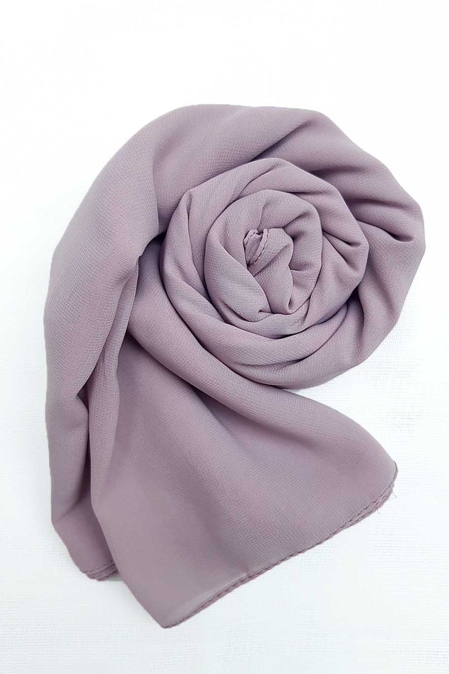 Light Lilac Chiffon Hijab - Chiffon Hijab - The Modest Look