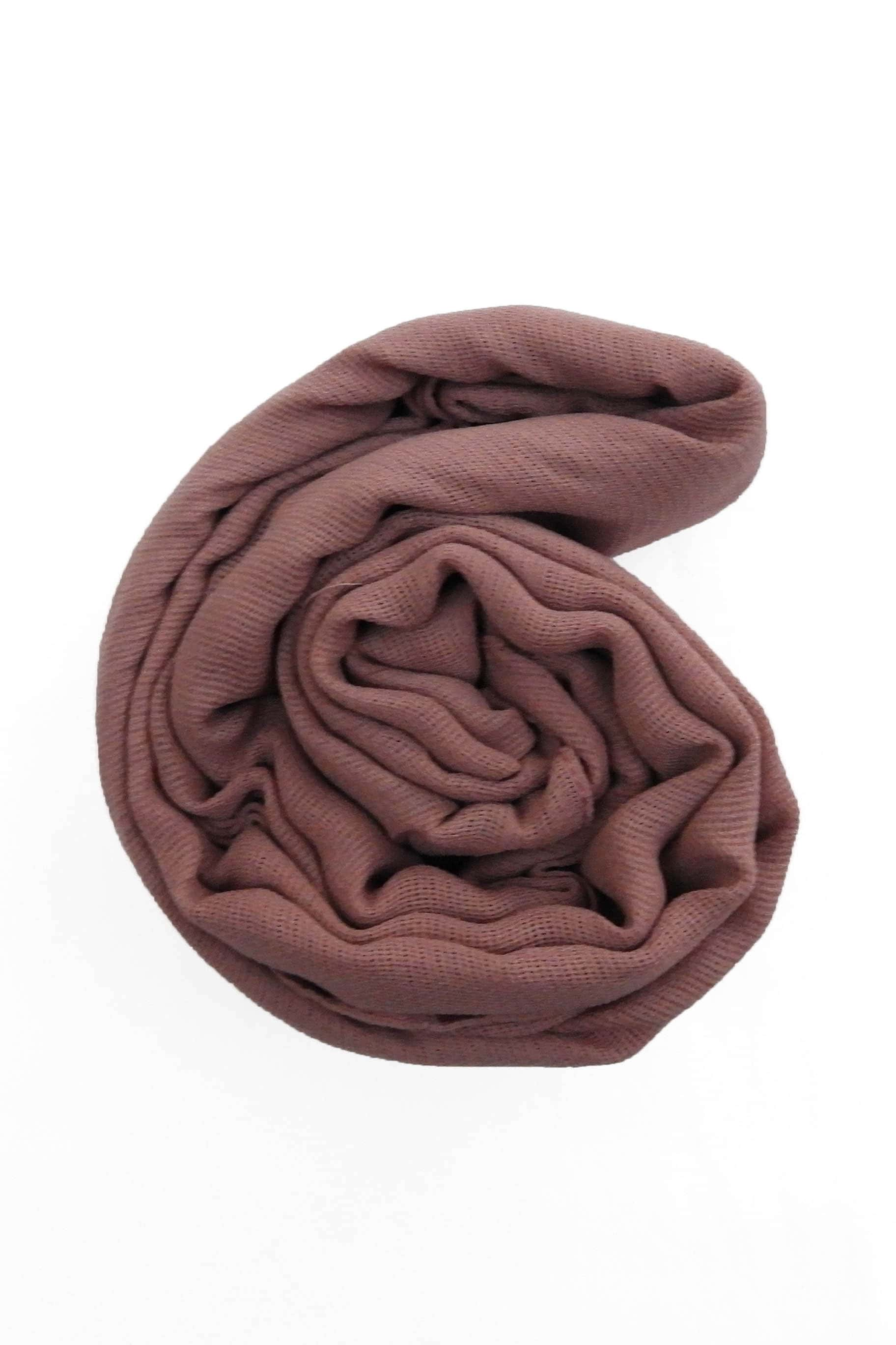 Fig Purple Jute Cotton - Jute-Cotton Hijab - The Modest Look