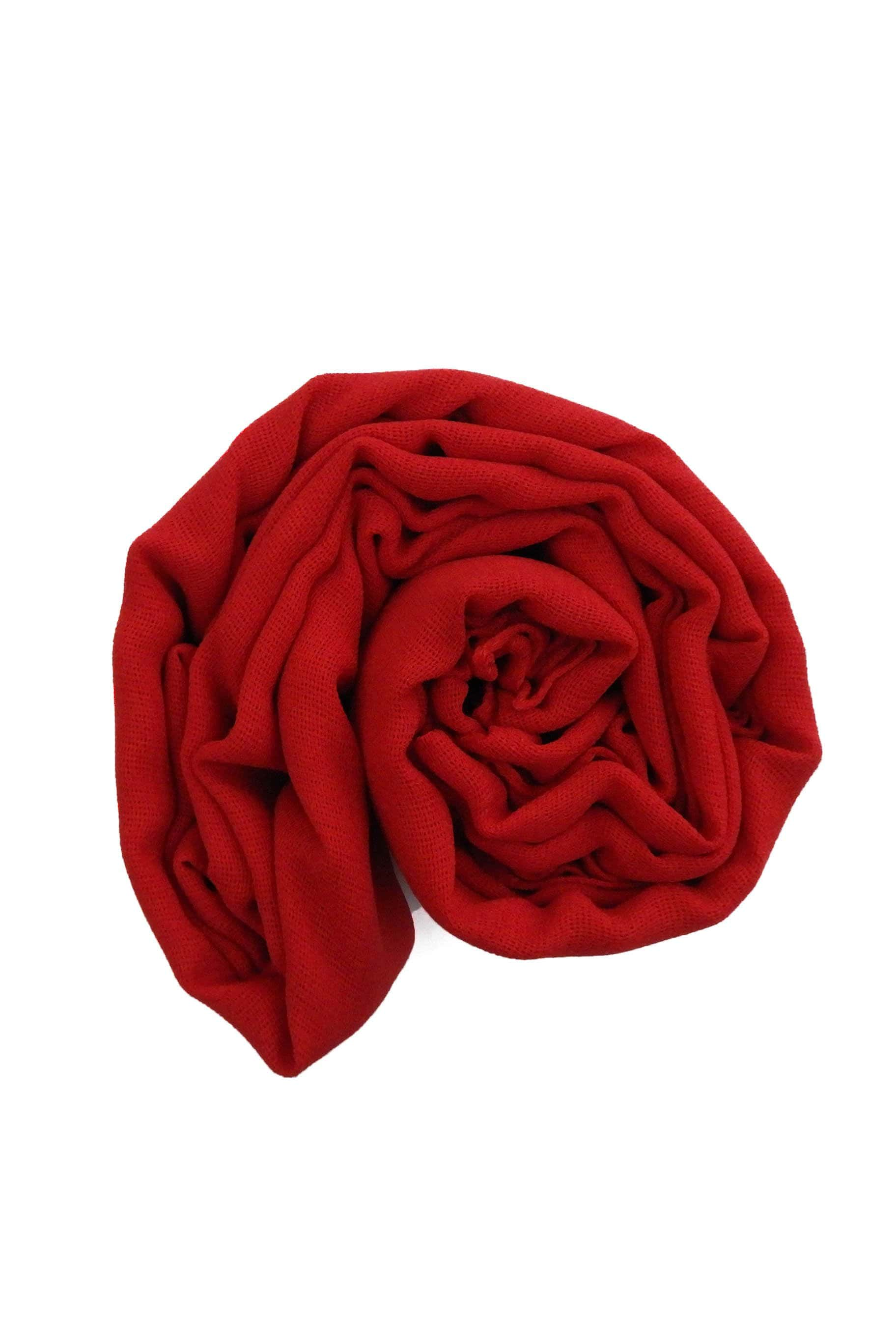 Rose Red Jute Cotton - Jute-Cotton Hijab - The Modest Look