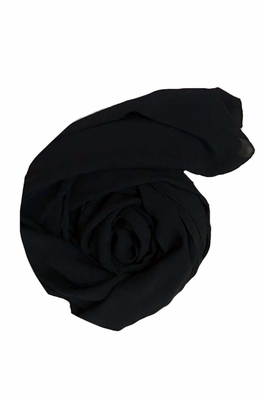Roro Black Chiffon Hijab - Chiffon Hijab - The Modest Look