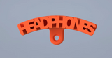 Headphone mount small orange