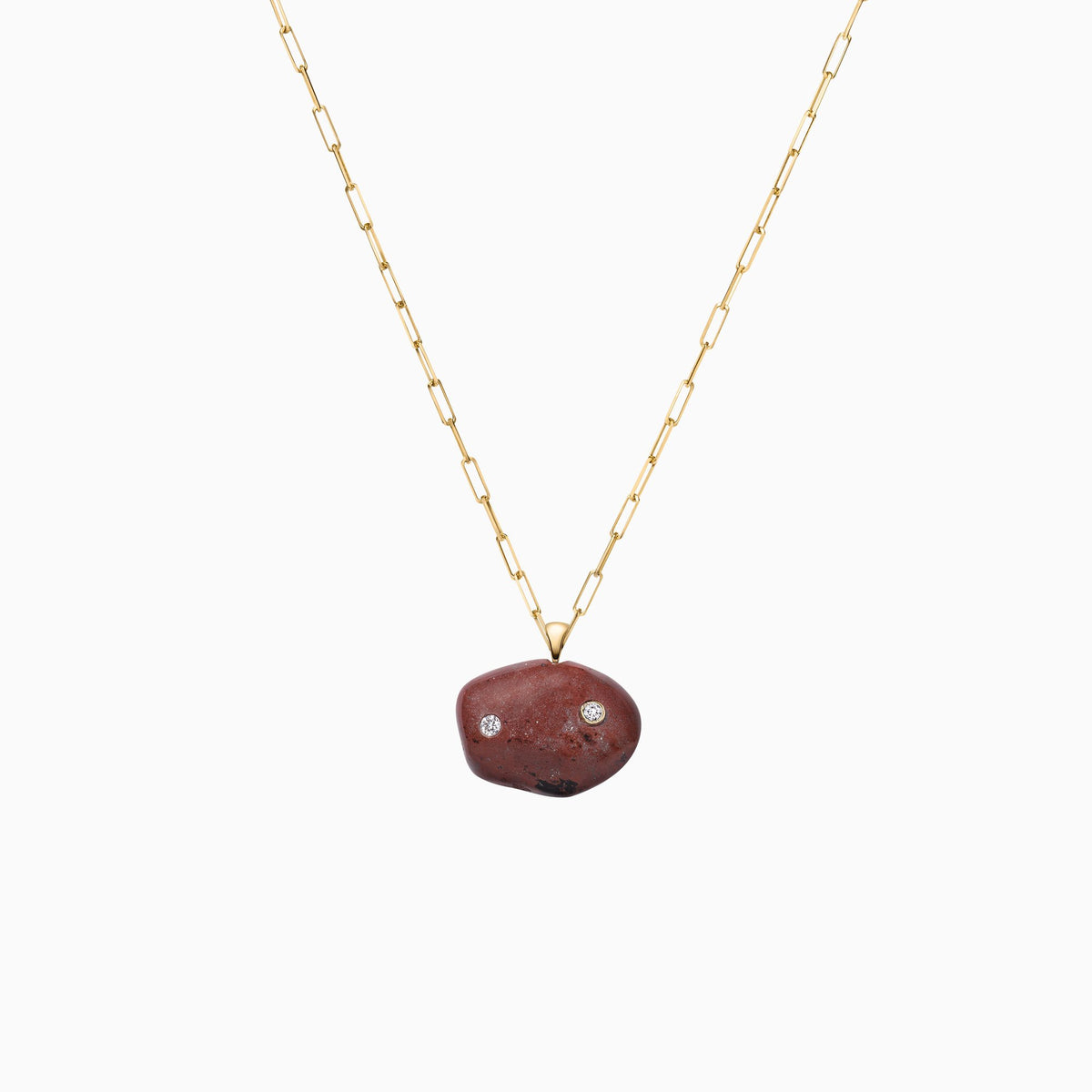 Nessa Designs Jewelry | Necklaces | Glacial Gems Pebble & Diamond