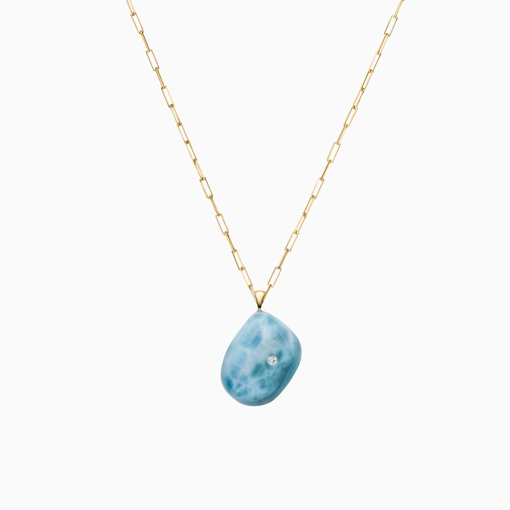 Nessa Designs Jewelry | Necklaces | Vibrant Blues Pebble & Diamond