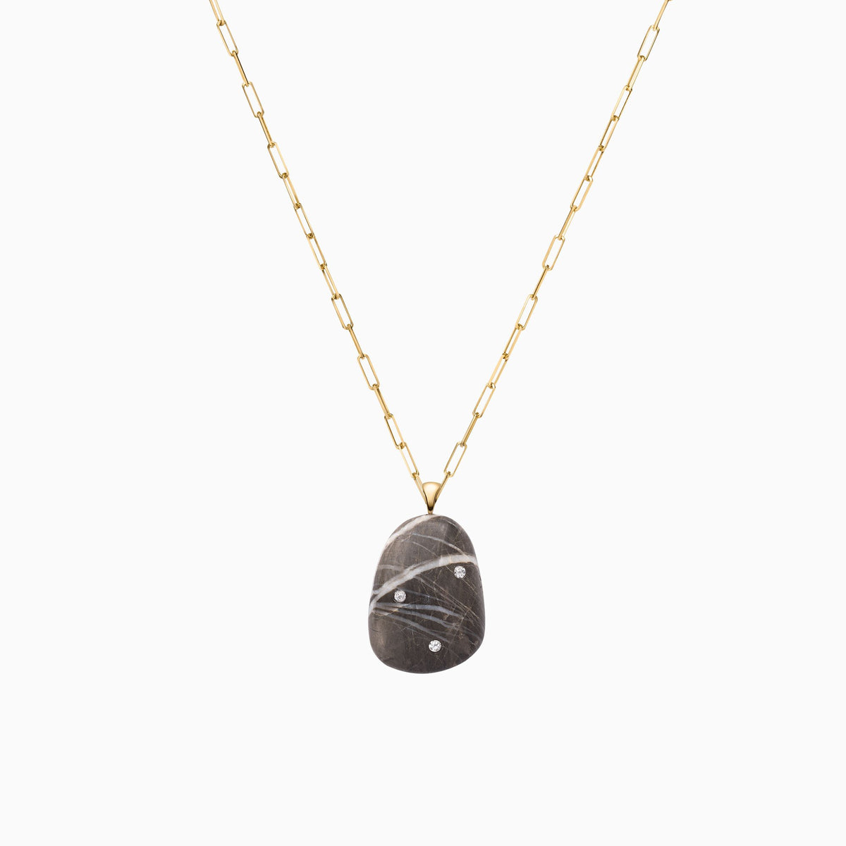 Nessa Designs Jewelry | Necklaces | Ancient Sands Pebble & Diamond