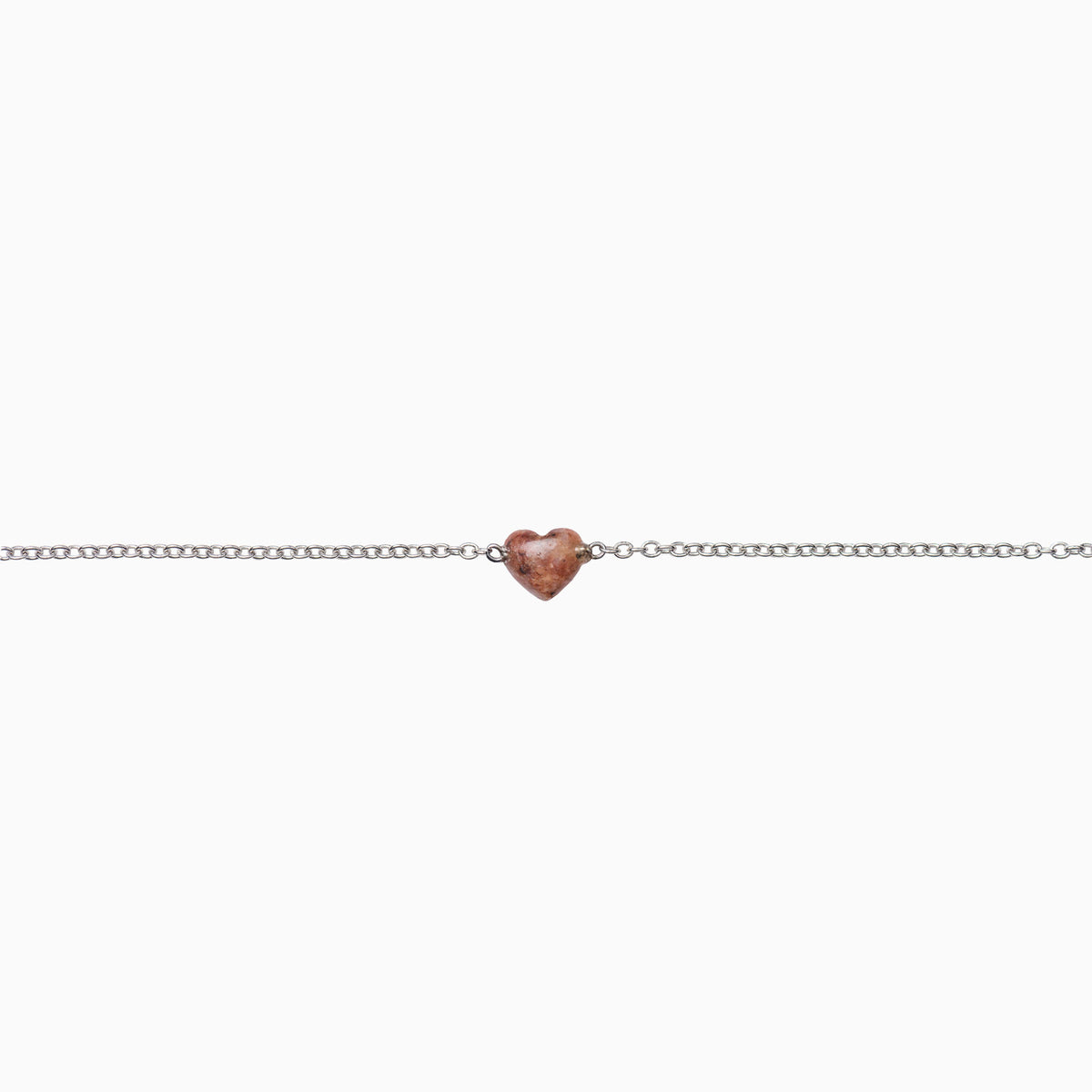 Mountain Desert Red Heart Pebble Bracelet