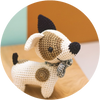 Jack russell pica pau yarn hilo colores usar
