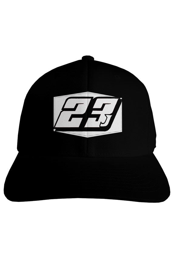 23J Parrish Motorsports Printed Patch fitted adult hat