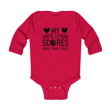 Load image into Gallery viewer, Auntie Leyshia Infant Long Sleeve Bodysuit