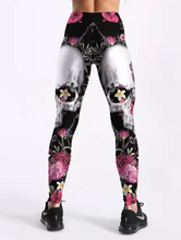 Load image into Gallery viewer, Women printed flower skull Workout Leggings Sexy Clothes Workout Jeggings Fitness Legging plus size
