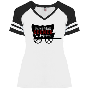 Sooner Wagon Ladies' Game V-Neck T-Shirt