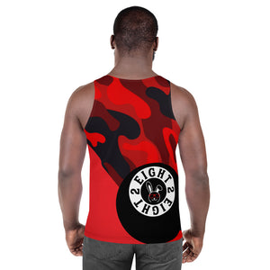 Eight 2 Eight Thowed Bunny Brand (Red/Camo)Unisex Tank Top
