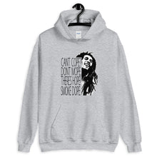 Load image into Gallery viewer, Marley Cant Cope Theres Hope Unisex Hoodie