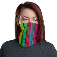Load image into Gallery viewer, Multi-colored Stripe Neck Gaiter/ Mask