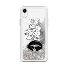 Load image into Gallery viewer, Smokin Weed Lips Liquid Glitter Phone Case