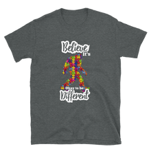 Load image into Gallery viewer, Autism Aware Bigfoot Be Different Short-Sleeve Unisex T-Shirt