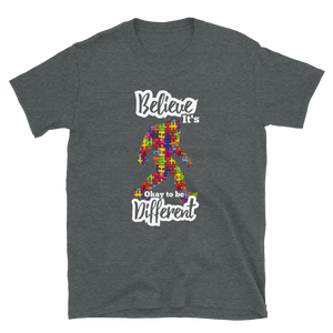 Autism Aware Bigfoot Be Different Short-Sleeve Unisex T-Shirt