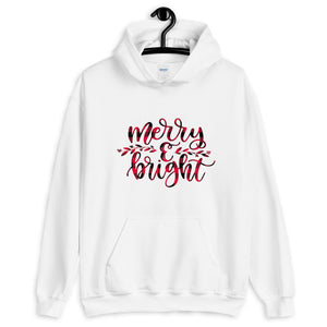 Merry and Bright Christmas Unisex Hoodie