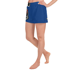 Thowed Bunny Brand (Blue) Women's Athletic Short Shorts