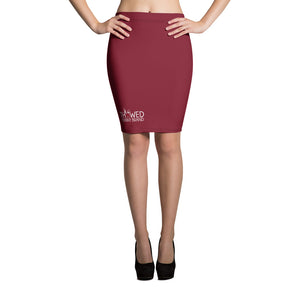 Thowed Bunny Brand (Red 2) Pencil Skirt
