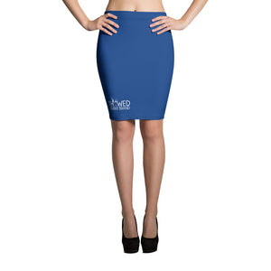 Thowed Bunny Brand (Blue) Pencil Skirt