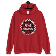 Merry Christmas Plaid Pattern Unisex Hoodie