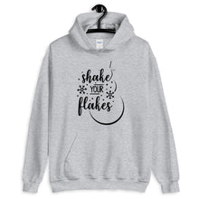 Load image into Gallery viewer, Shake Your Flakes Christmas Unisex Hoodie