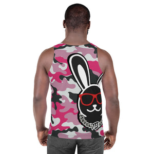 Thowed Bunny Brand (Camo Pink) Unisex Tank Top