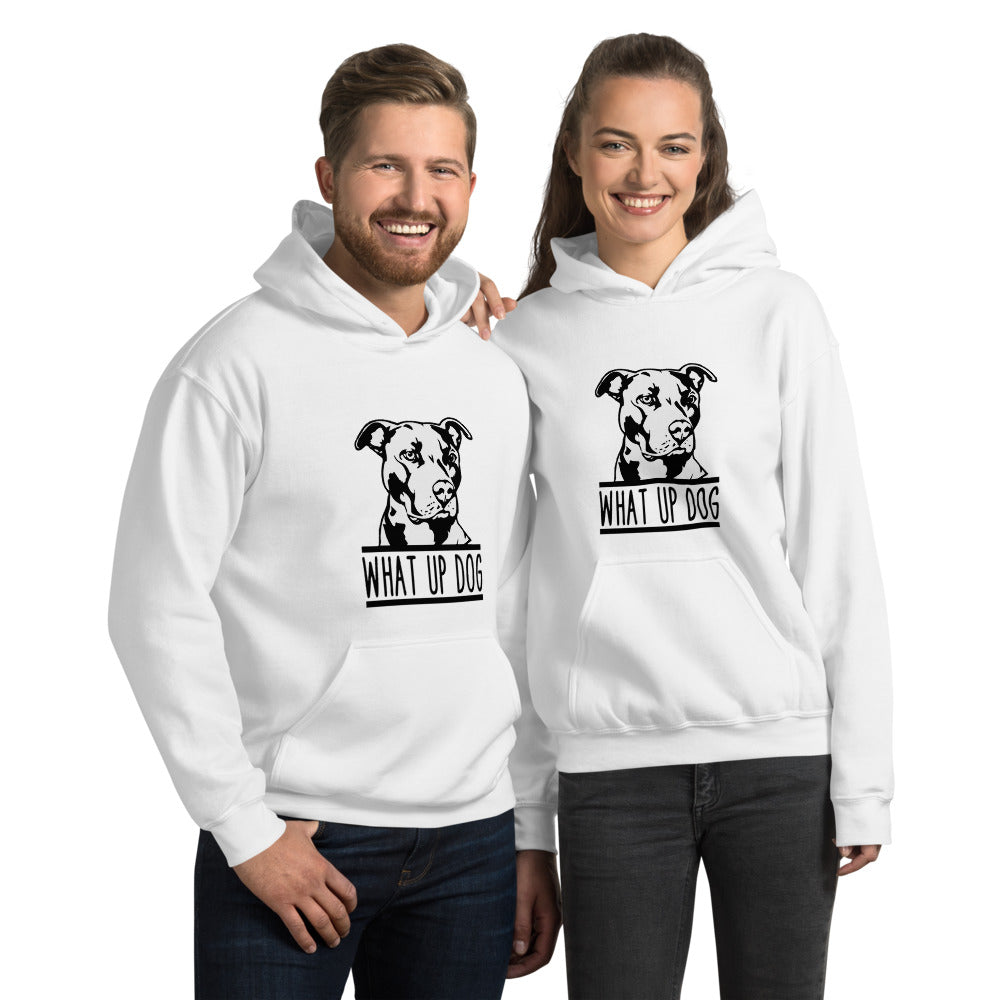 What Up Dog Pit Bull Unisex Hoodie