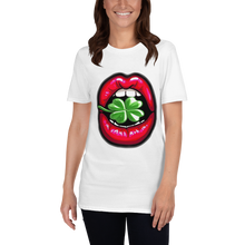 Load image into Gallery viewer, Lucky Lips Clover Short-Sleeve Unisex T-Shirt