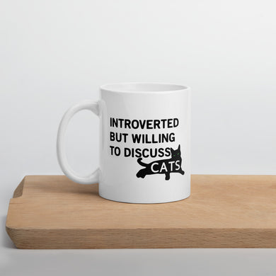Introverted Will Discuss Cats Mug