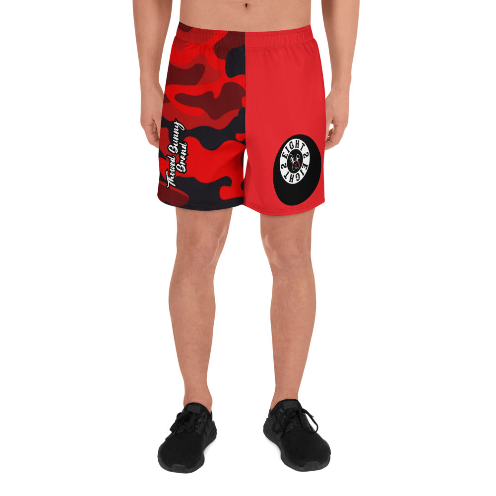 Eight 2 Eight Thowed Bunny Brand (Red/Camo) Men's Athletic Long Shorts