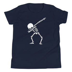 Dab Skeleton Youth Short Sleeve T-Shirt