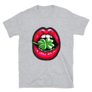 Lucky Lips Clover Short-Sleeve Unisex T-Shirt