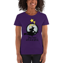 Load image into Gallery viewer, Yes I Can Drive A Stick Witch Women's short sleeve t-shirt