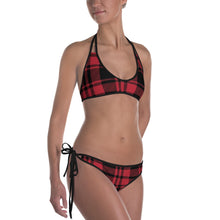 Load image into Gallery viewer, Red Plaid Bikini